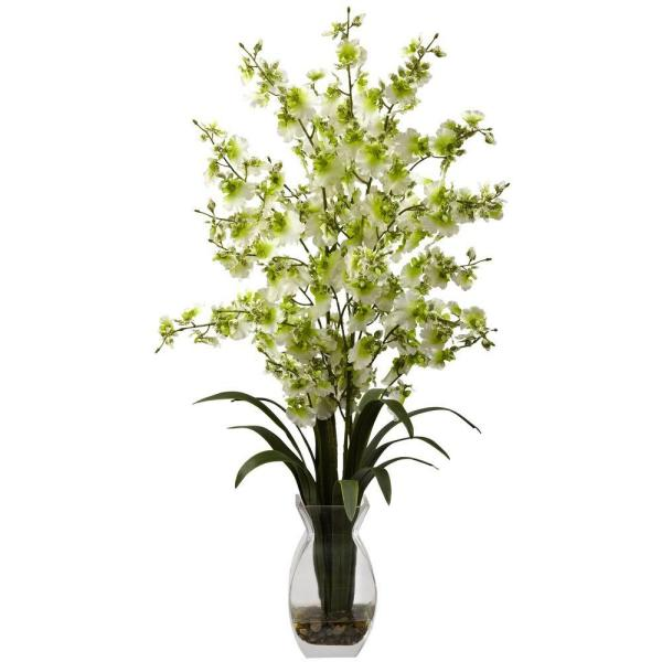 Dancing Lady Orchid with Vase Arrangement in Green