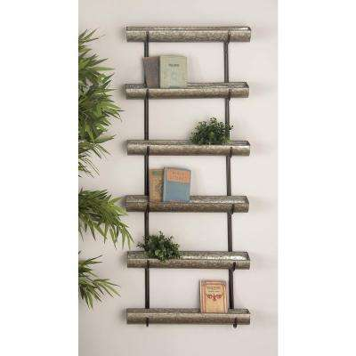 58 in. Rustic Galvanized Iron 5-Tier Planter