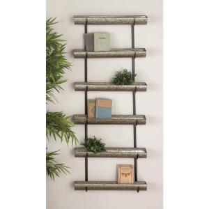 58 inch Rustic Galvanized Iron 5-Tier Planter by