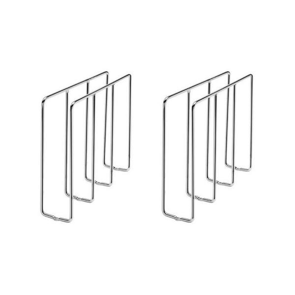 U-Shaped Tray Divider Organizer for Cabinets, Chrome (2-Pack)