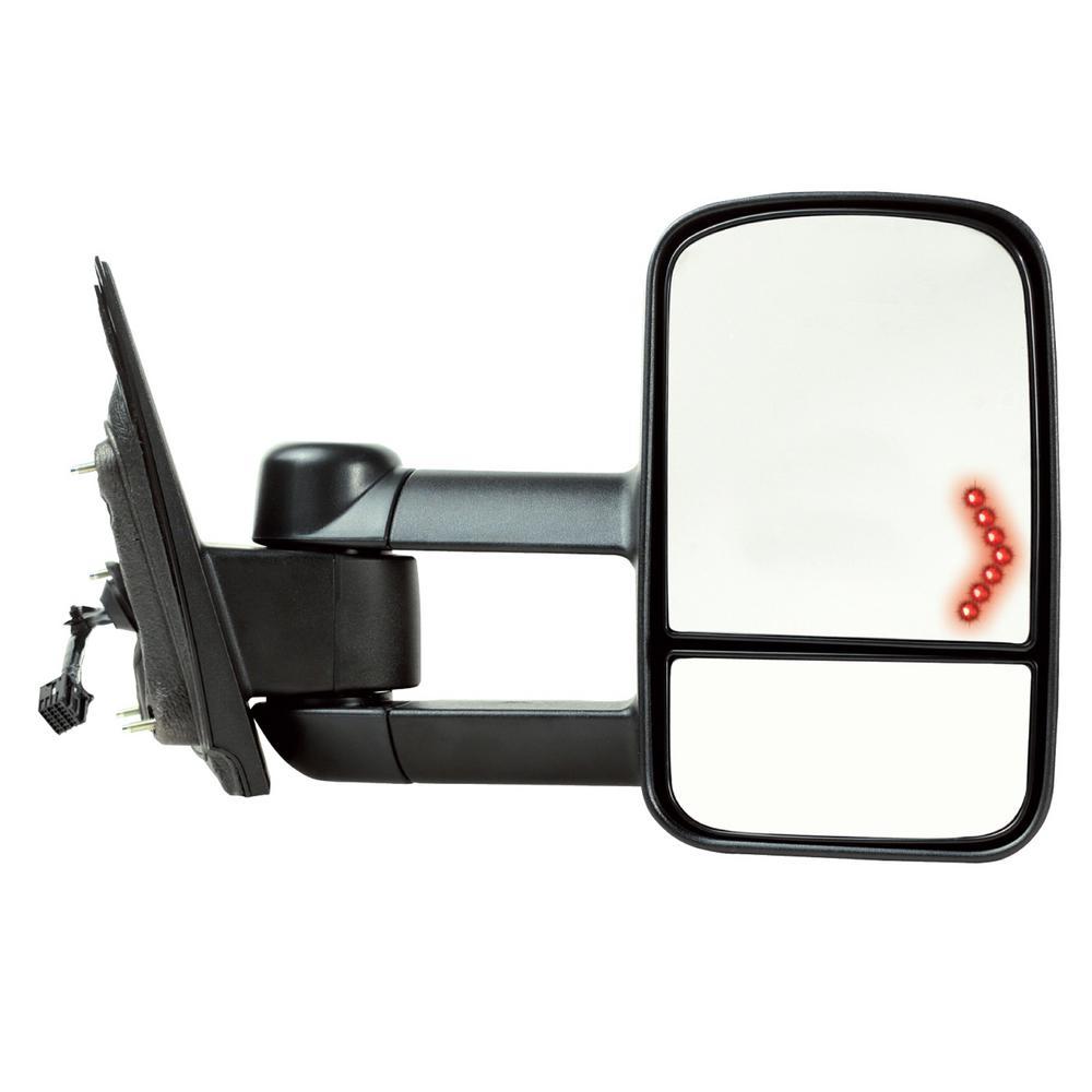 Towing Mirror for 14-17 Silverado/Sierra 15-17 25003500 Textured Black with Signal 1st Design Foldaway RH