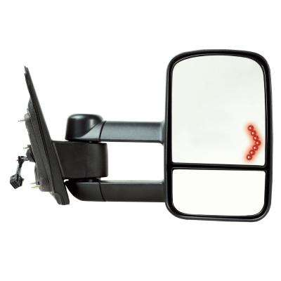 Towing Mirror for 14-17 Silverado/Sierra 15-17 25003500 Textured Black with Signal 1st Design Foldaway RH