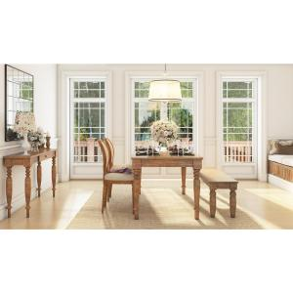 distressed oak dining table. artefama furniture linda distressed oak dining table-5737.0001 - the home depot table e