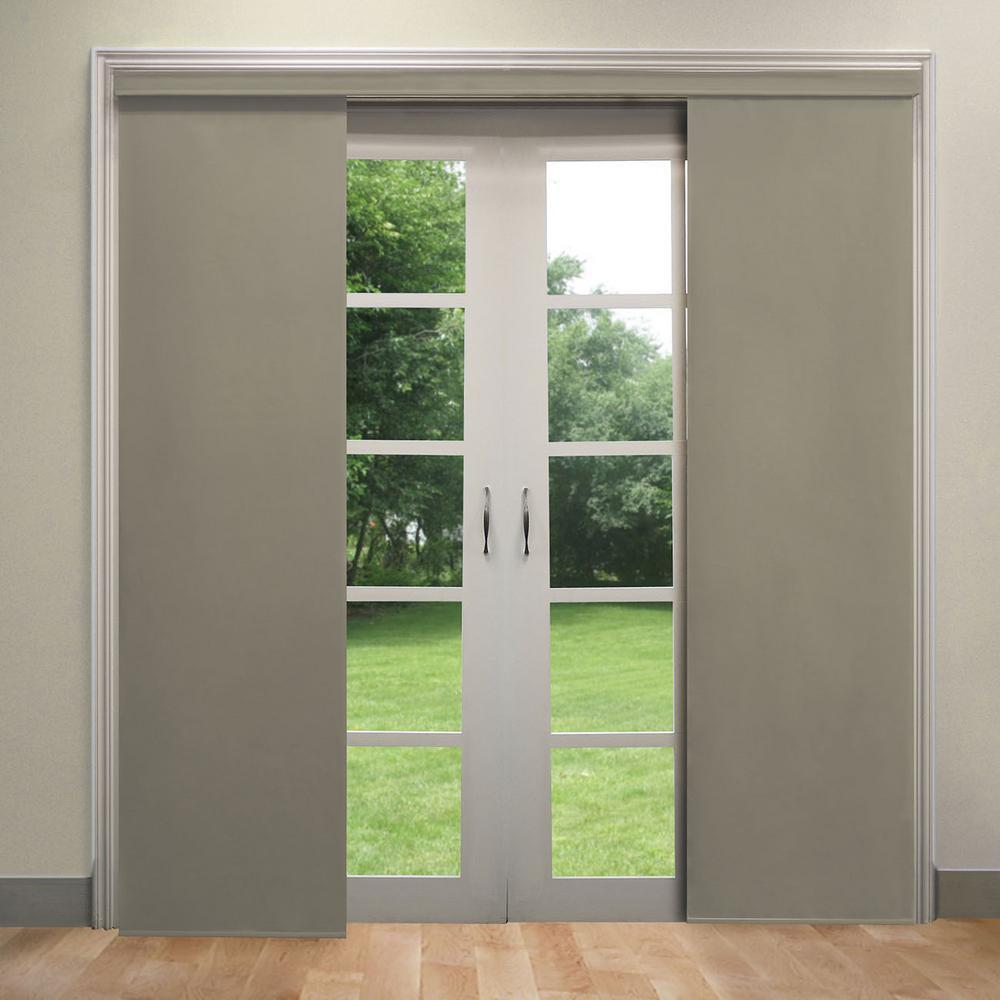 deluxe adjustable sliding panel cut to length curtain drape vertical blind light filtering