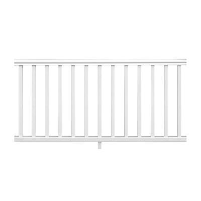Traditional 6 ft. x 36 in. White PolyComposite Rail Kit without Brackets