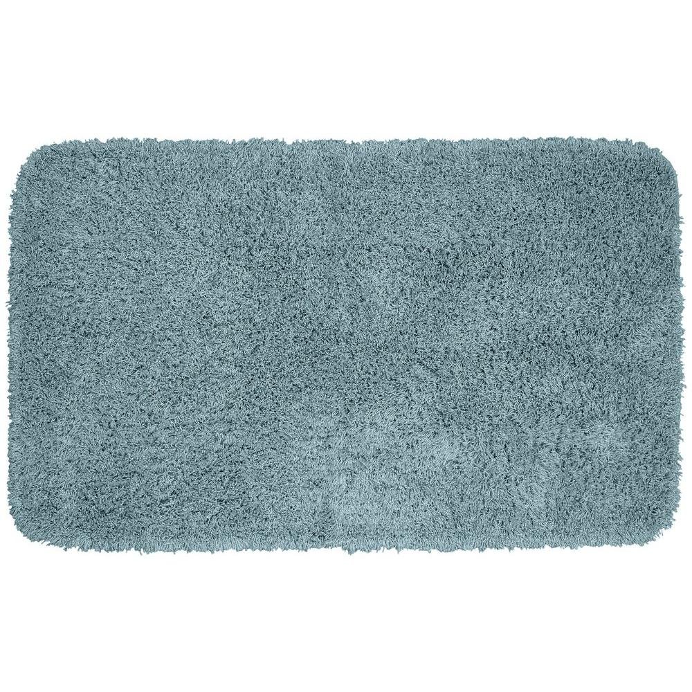 Garland Rug Jazz Basin Blue 30 In X 50 In Washable Bathroom Accent Rug Ben 3050 13 The Home