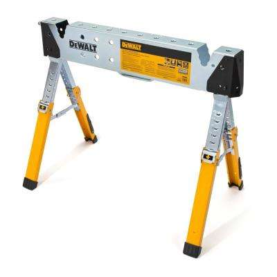 36 in. W Adjustable Height (25 in. to 33 in.) Folding Steel Heat Resistant Groundable Welding Sawhorse / Work Support