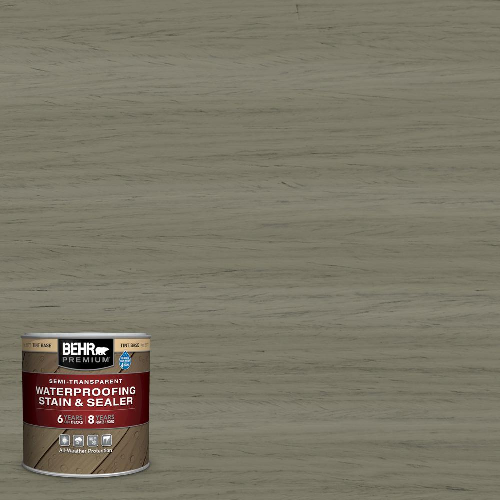 BEHR Premium 8 oz. #ST-144 Gray Seas Semi-Transparent Waterproofing Exterior Wood Stain and Sealer Sample