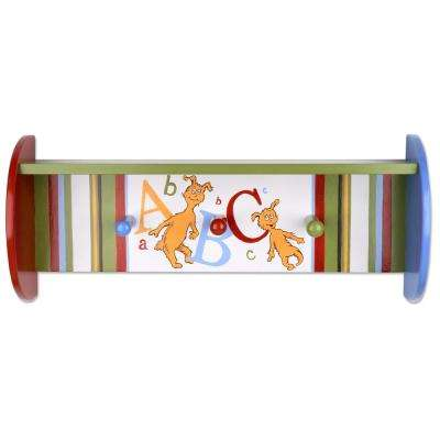 Dr. Seuss 18 in. W x 6 in. D ABC Decorative Wall Shelf