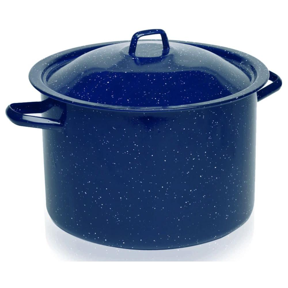 IMUSA 12 qt. Blue Enamel Stock Pot-DISCONTINUED
