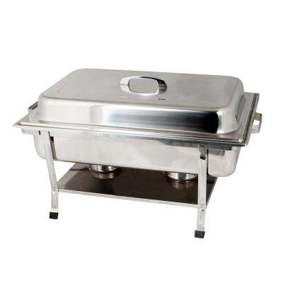 Stainless Steel Full Size Weld Chafer with Plastic Footed Set