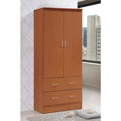 2-Door Armoire with 2-Drawers in Cherry