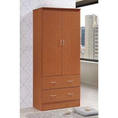 2 Door Armoire With 2 Drawers In Cherry