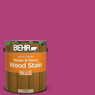100b 7 Hot Pink Solid Color House And Fence Exterior Wood