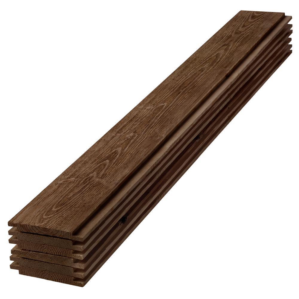 1 in. x 6 in. x 6 ft. Barn Wood Dark