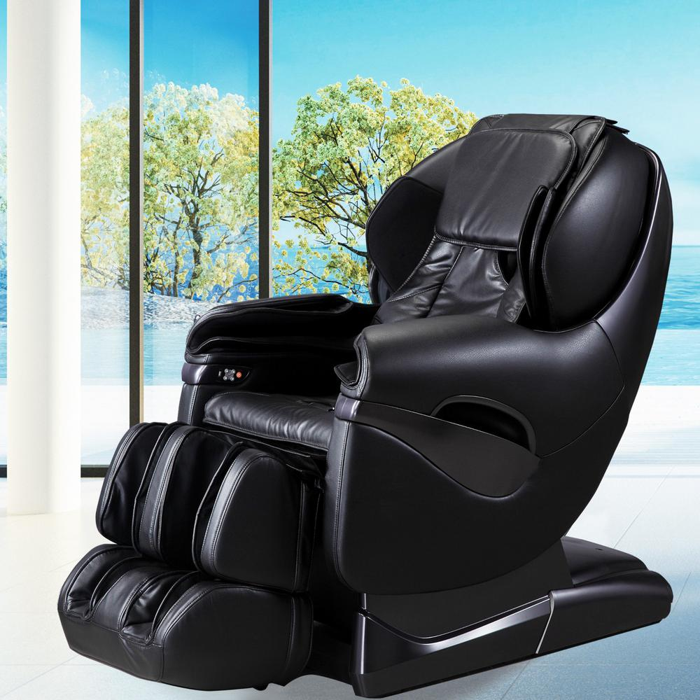 TITAN Pro Series Black Faux Leather Reclining Massage Chair
