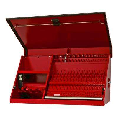 PWS Series 41 in. 0-Drawer Textured Portable Workstation Top Chest in Red