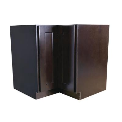 Brookings Plywood Ready to Assemble Shaker 36x34.5x24 in. 2-Door Lazy Susan Corner Base Kitchen Cabinet in Espresso