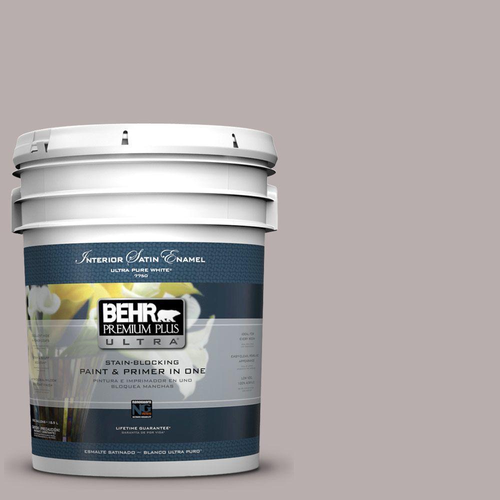 BEHR Premium Plus Ultra 5-gal. #PPU17-11 Vintage Mauve Satin Enamel Interior Paint