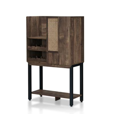 Mangoro 8-Bottle Reclaimed Oak Wine Cabinet