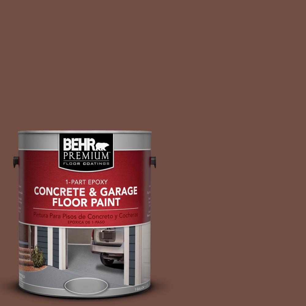 1 gal. #N160-7 Brown Velvet 1-Part Epoxy Concrete and Garage Floor Paint