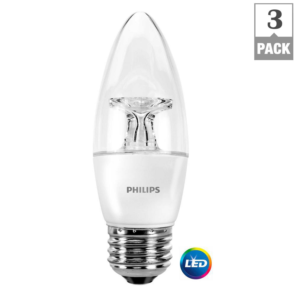 40-Watt Equivalent B11 Dimmable LED Energy Star Light Bulb Soft White
