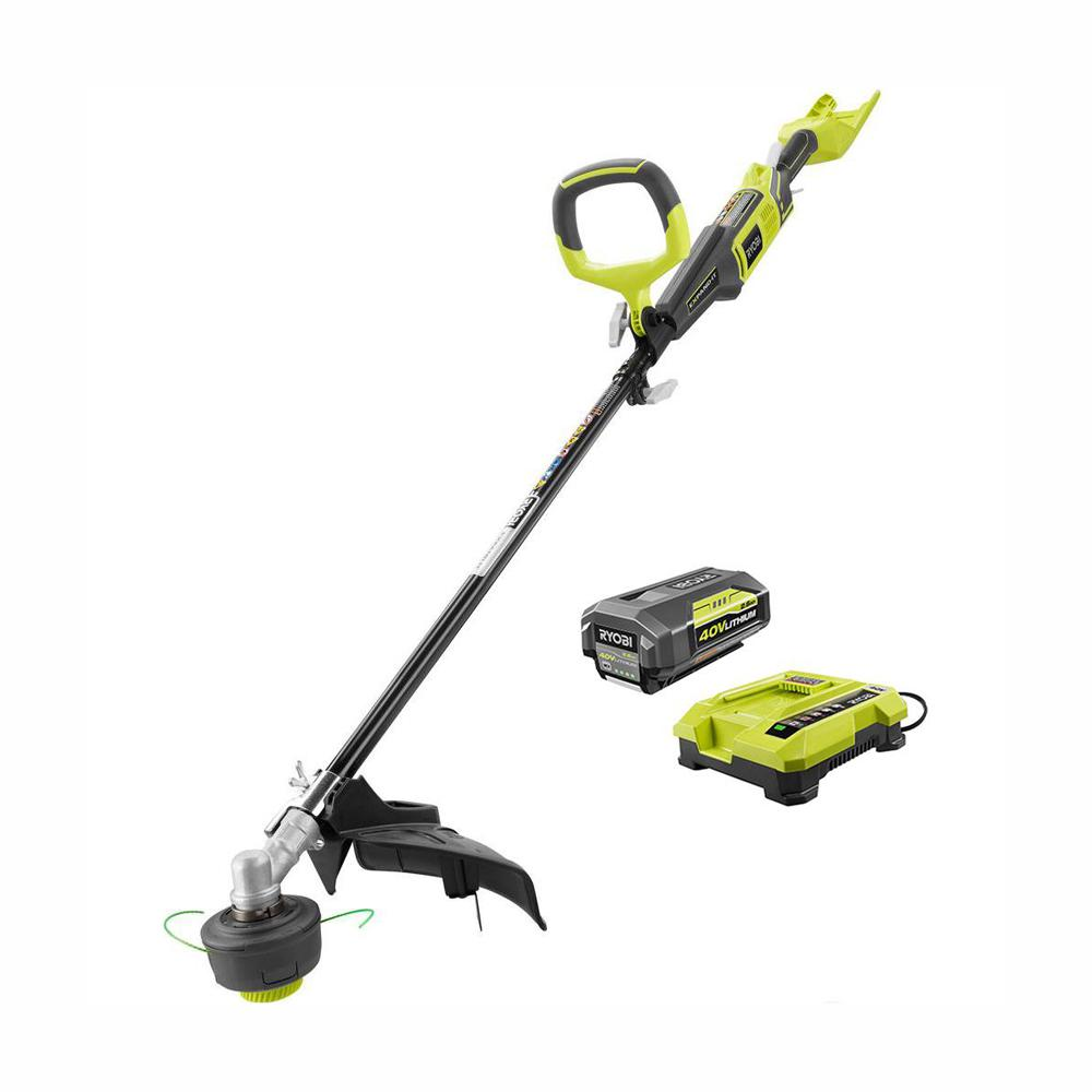 RYOBI 40-Volt Lithium-Ion Cordless Attachment Capable String Trimmer - 2.6 Ah Battery and Charger Included
