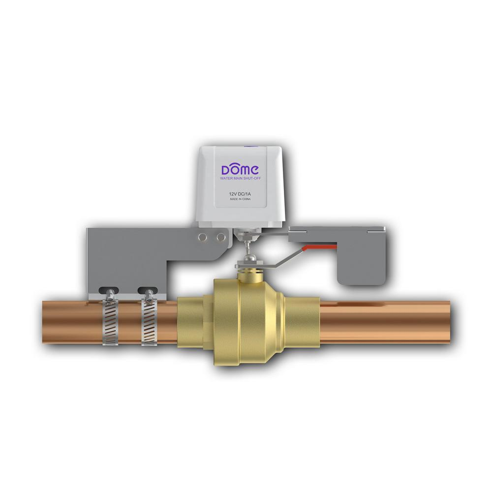 Dome Home Automation Z-Wave Certified Water Valve for Pipes up to