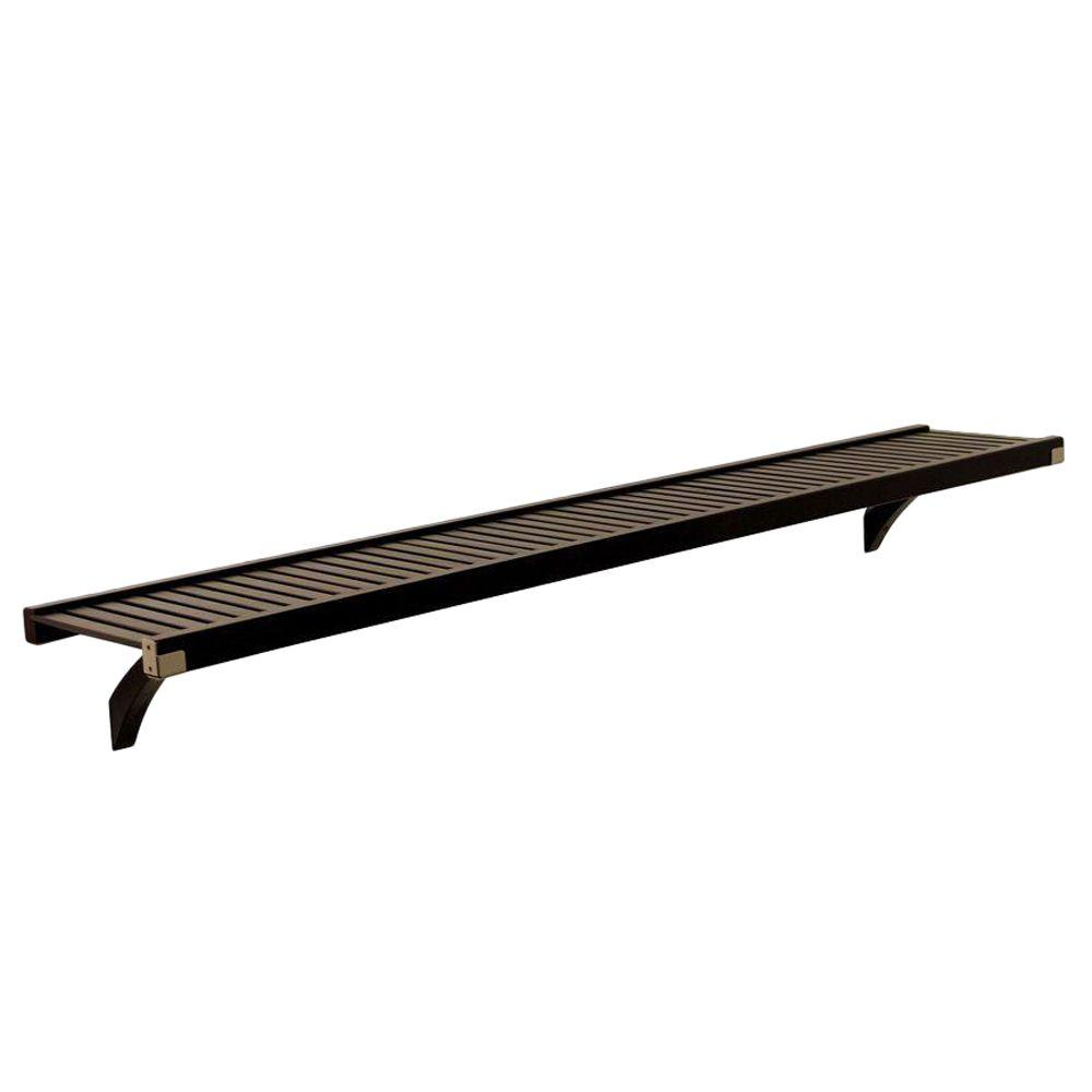 John Louis Home Woodcrest 12 in. Deep 6 ft. Shelf Kit in Espresso