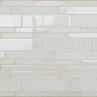 Midtown Sense Bright White 11.75 in. x 11.75 in. Polished Glass Wall Tile (0.96 sq. ft.)