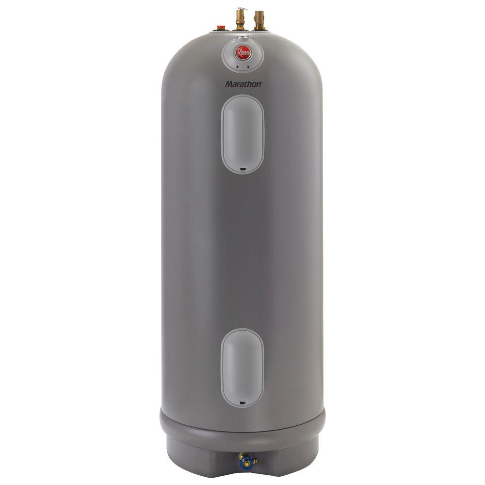 Rheem Marathon 40 Gal. Tall 4500/4500-Watt Elements Non Metallic Lifetime  Electric Tank Water Heater-MR40245 - The Home Depot