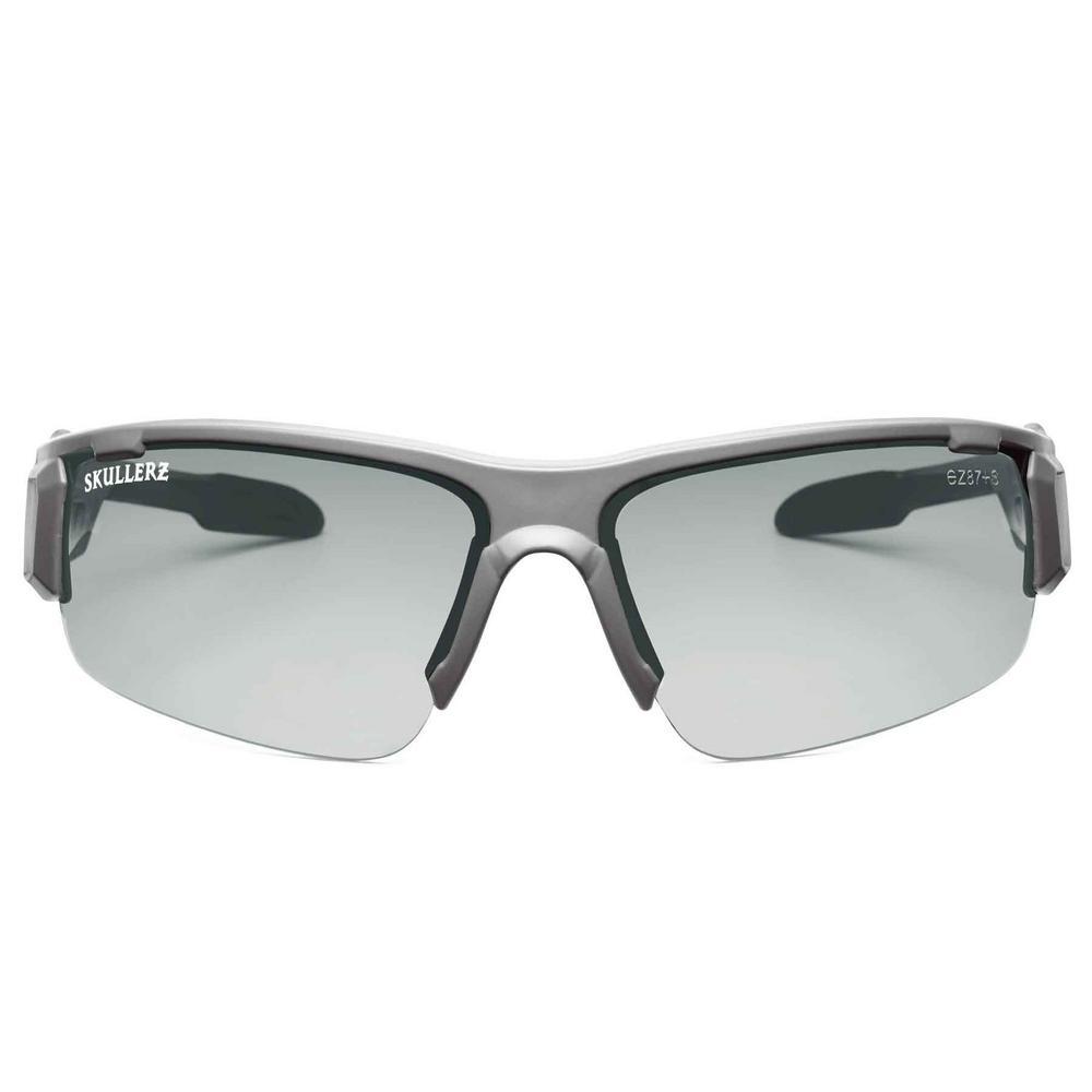 Skullerz Dagr Matte Gray Safety Glasses, In/Outdoor Lens - ANSI Certified