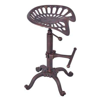 Shea Industrial Copper Adjustable Bar Stool