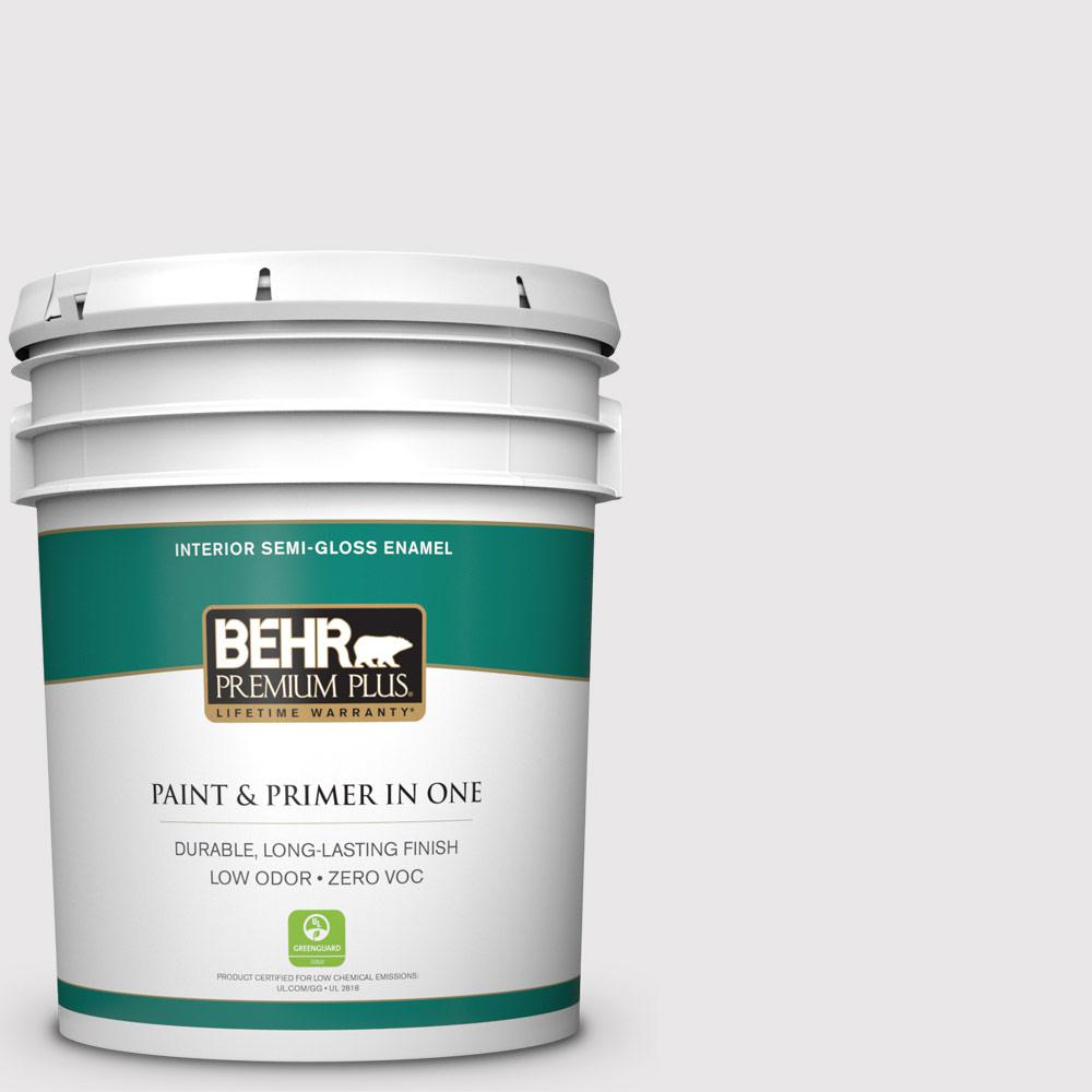 BEHR Premium Plus 5-gal. #PR-W3 Melodic White Semi-Gloss Enamel Interior Paint