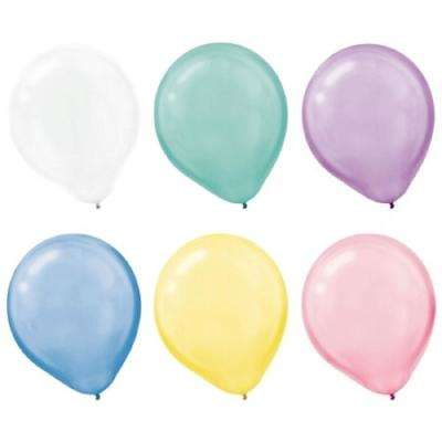 12 in. Assorted Pearlized Colors Latex Balloons (72-Count, 3-Pack)