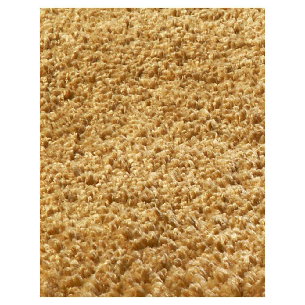 kas rugs cushy shag gold 5 ft x 7 ft area rug bli15675x7 the home depot. Black Bedroom Furniture Sets. Home Design Ideas