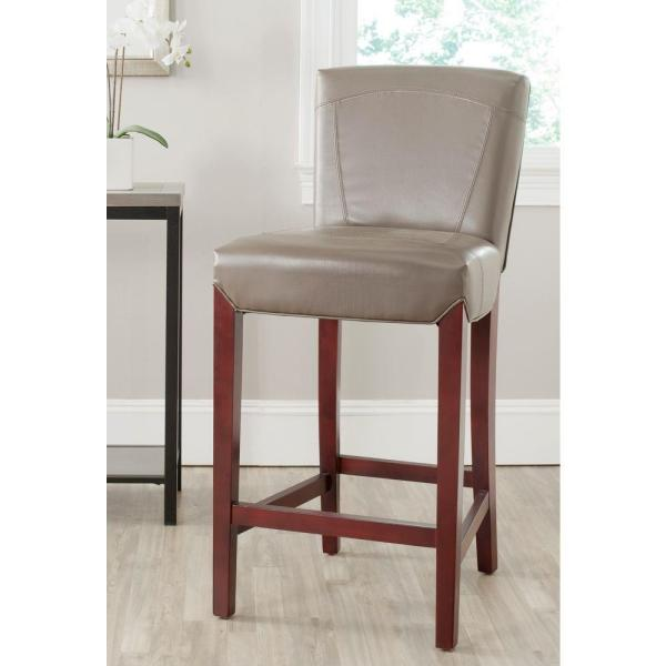Safavieh Ken 30 in. Clay Cushioned Bar Stool