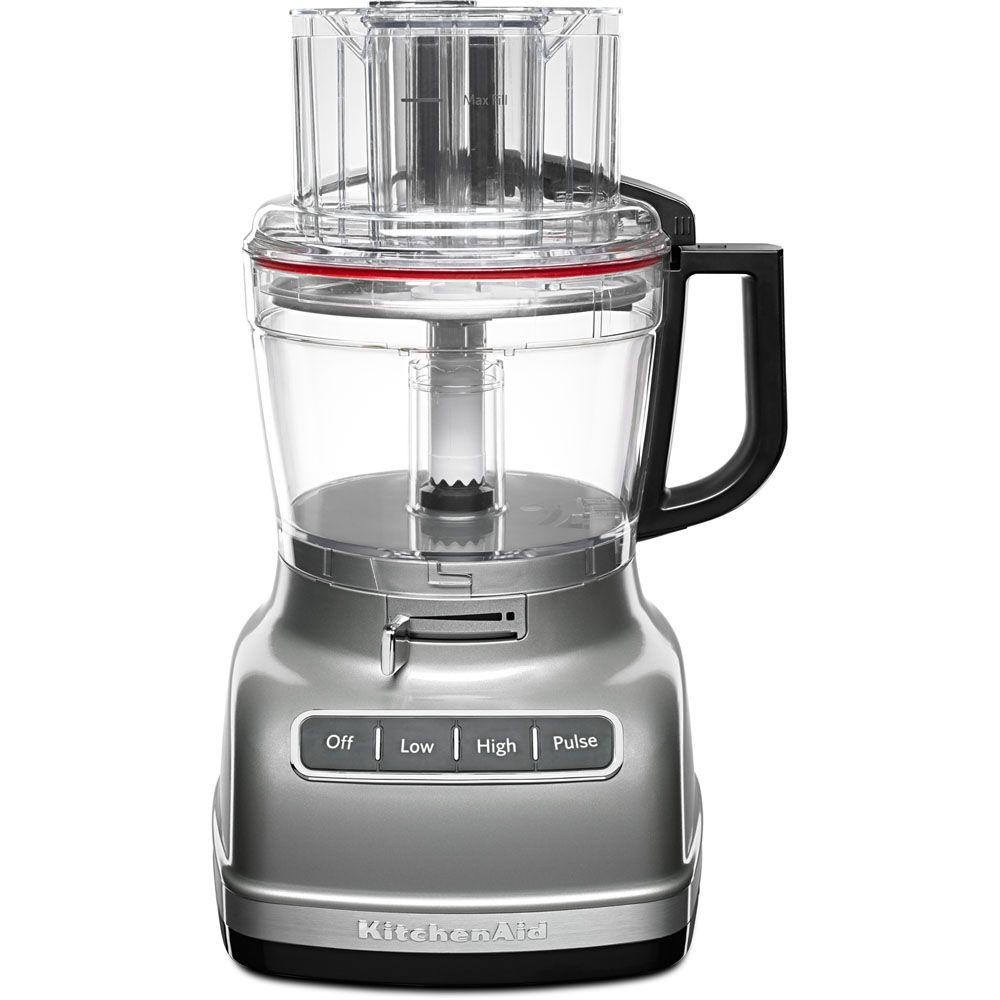 KitchenAid ExactSlice 11-Cup 3-Speed Contour Silver Food Processor