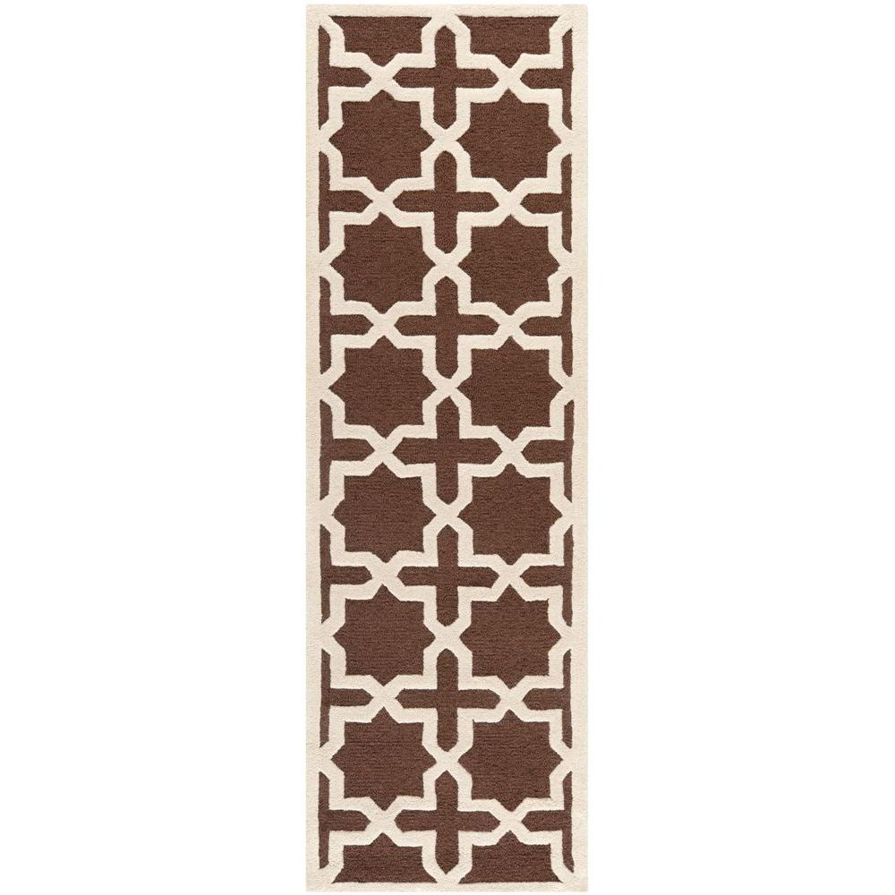 Safavieh Cambridge Dark Brown/Ivory 2 ft. 6 in. x 6 ft. Runner