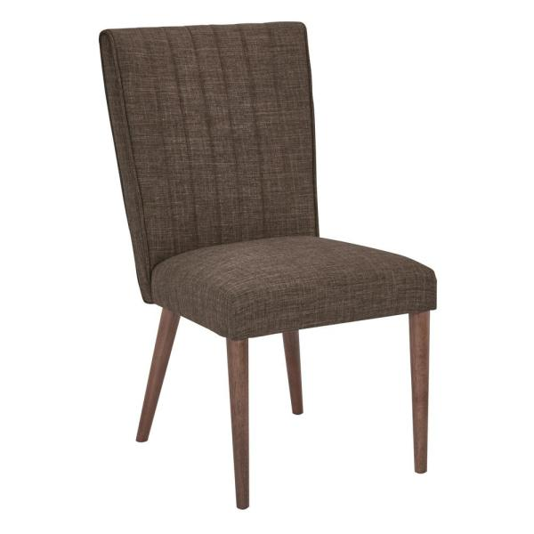 Caroline Taupe Fabric with Coffee Legs Dining Chair