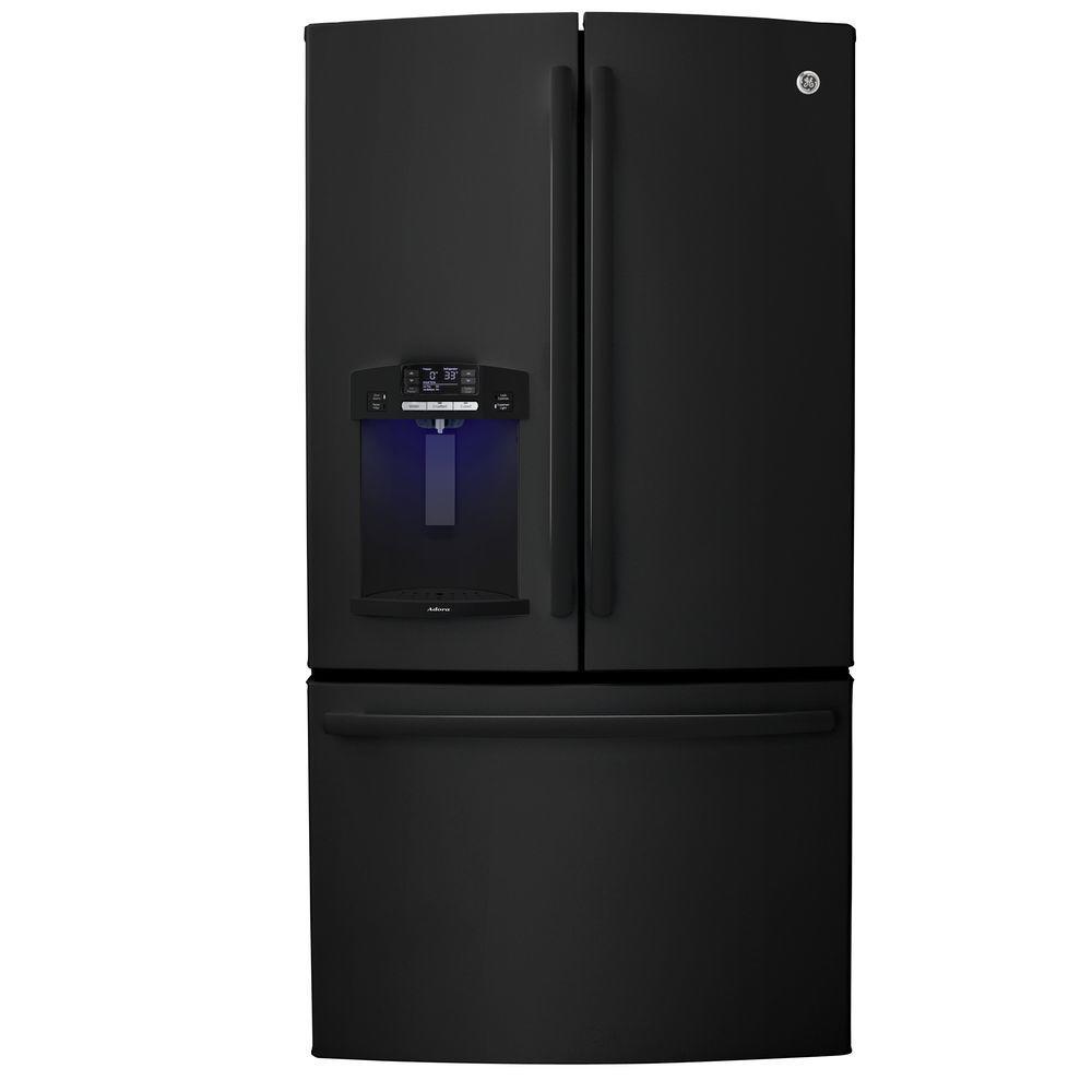 GE Adora 27.7 cu. ft. French Door Refrigerator in Black