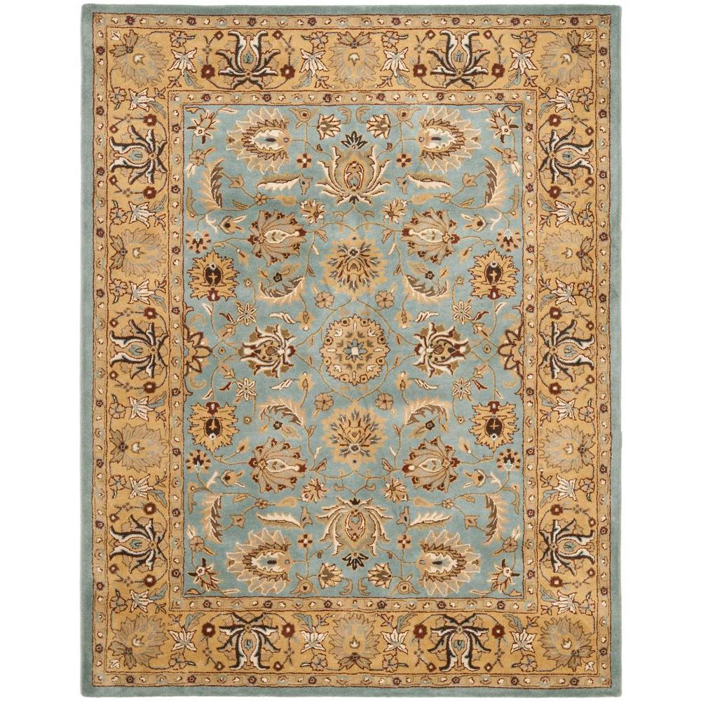 Safavieh Heritage Blue Gold 9 Ft X 12 Ft Area Rug Hg958a