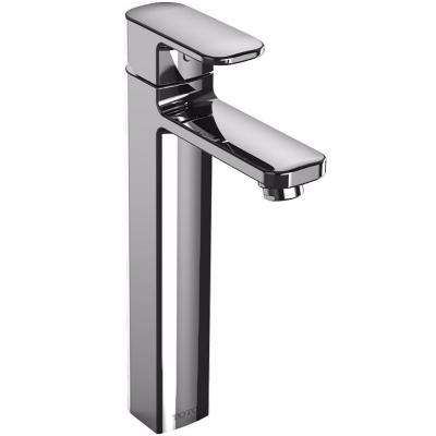 Upton Vessel Single Hole Single-Handle Bathroom Faucet in Polished Chrome