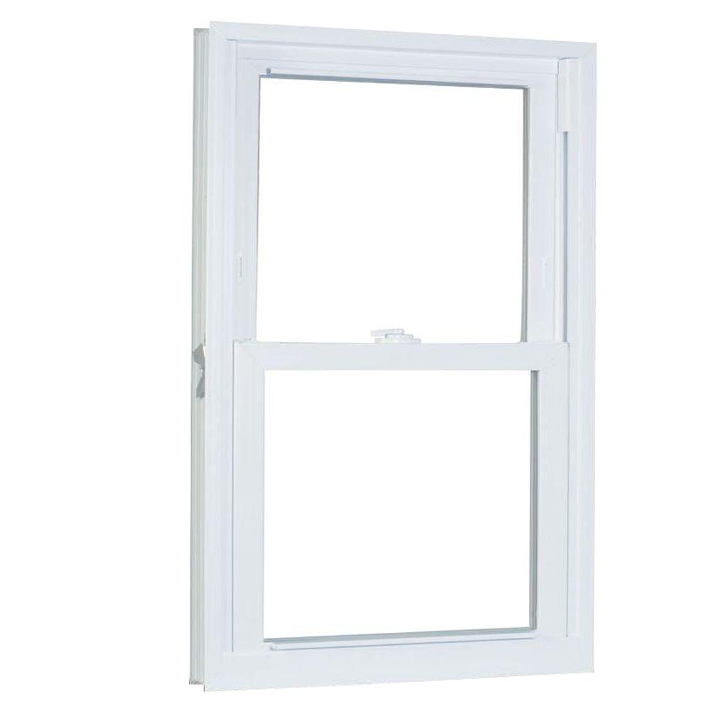 American Craftsman 31.75 in. x 49.25 in. 70 Series Pro Double Hung White Vinyl Window with Buck Frame