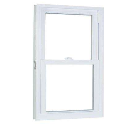 31.75 in. x 49.25 in. 70 Series Pro Double Hung White Vinyl Window with Buck Frame