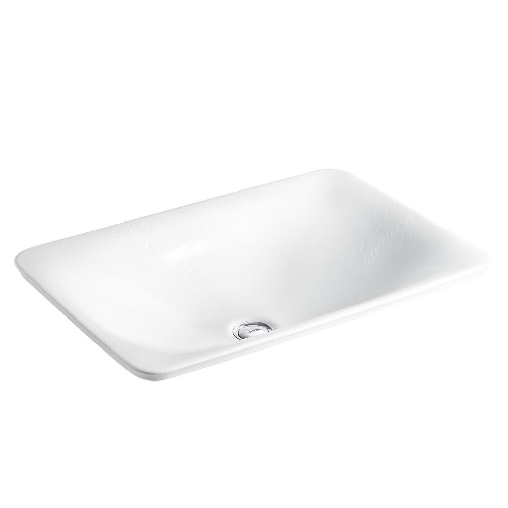 KOHLER Sartorial Above Counter Bathroom Sink In Herringbone