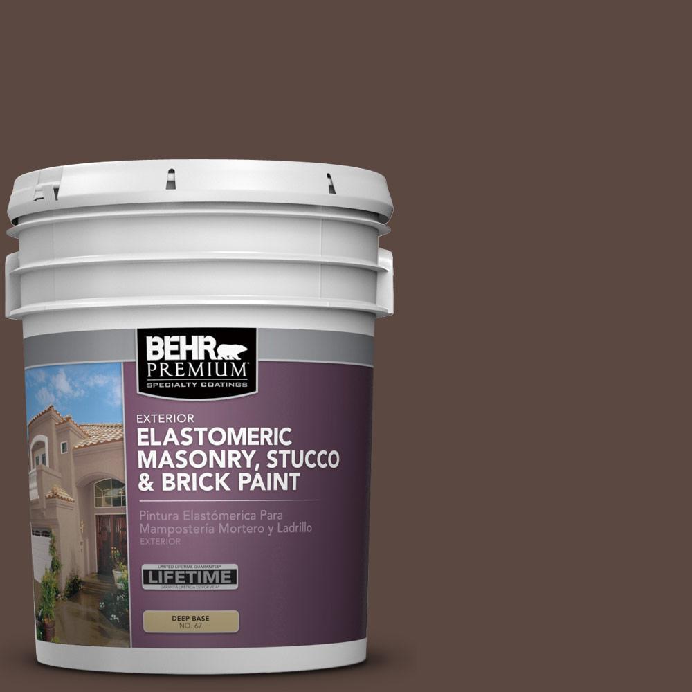 5 gal. #N170-7 Baronial Brown Elastomeric Masonry, Stucco and Brick Exterior Paint