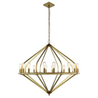 Illumina 16-Light Burnished Brass Pendant Lamp