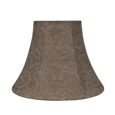 14 in. x 11 in. Brown with Studded Design Bell Lamp Shade