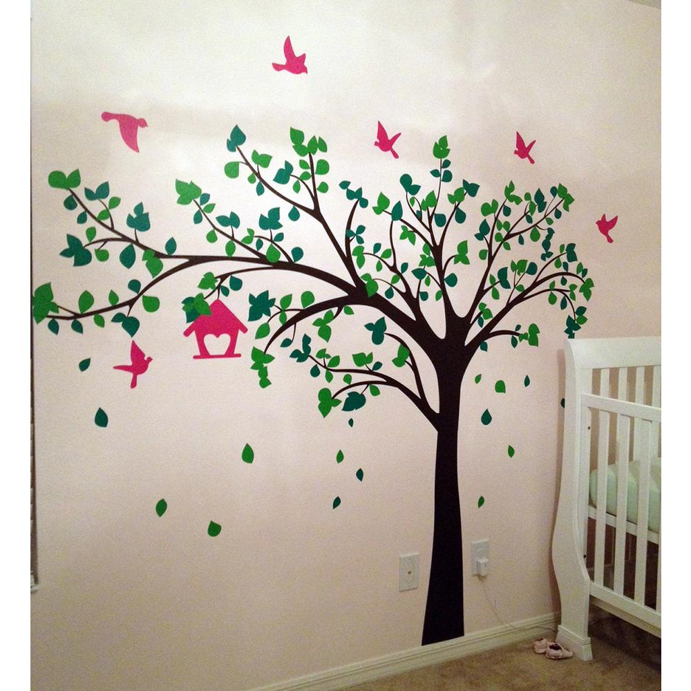 Wall Painting Tree And Birds